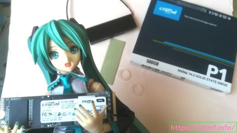 大容量500GBのM.2(NVMe・PCIe)にヒートシンククーラーで温度低下。